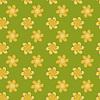 Векторный клипарт: Бесшовные зеленый фон с желтыми цветами