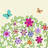 Декоративные цветочные фон с бабочками