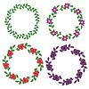 Векторный клипарт: Декоративные цветочные кадры
