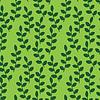 Векторный клипарт: Бесшовные листьев на зеленом фоне