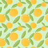 Orange fruits seamless pattern