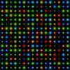 Dark tiled background with multicolored lights