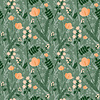 Vector clipart: Seamless floral two layers pattern