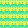 Seamless abstract geometric pattern green and yellow