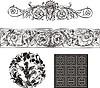 Векторный клипарт: набор декоративных виньеток и паттернов