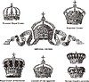 Vector clipart: German imperial and royal crowns