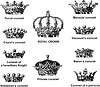 Vector clipart: Italian crowns