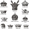 Vector clipart: Miscellaneous crowns and coronets
