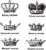 Vector clipart: portugese crowns