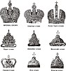 Russian crowns | Stock Vector Graphics