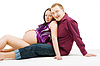Happy couple . Pregnancy | Stock Foto