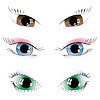 Set of painted eyes | Stock Vector Graphics