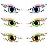 set of painted eyes