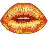 gezogen sexy Lippen. eps