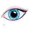 Blue Woman `s Auge