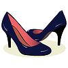 Vector clipart: blue high heel shoes