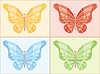 Vector clipart: Multi-colored butterfly.