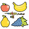 Vector clipart: fruit set