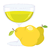 Vector clipart: cup with pear lemonade