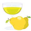 Векторный клипарт: Чашка с грушей лимонад