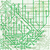 Vector clipart: Background of electronic schemes