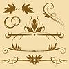 Vektor Cliparts: Set: Elemente für das Design