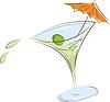 Векторный клипарт: стакан мартини
