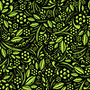 Vector clipart: Seamless wallpaper. Green vegetation repeating pattern