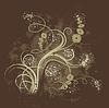 垃圾花卉背景 | 光栅插图