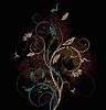 Floral bitmap background | Stock Illustration