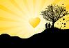 Vector clipart: Romantic sunset