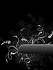 Vector clipart: Floral grunge frame
