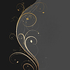 Vector clipart: Floral golden wave