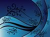 蓝花装饰 | 向量插图
