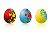 Vector clipart: Colored Easter eggs with pattern