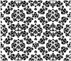 Векторный клипарт: Декоративные цветочным орнаментом