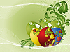 Easter eggs with pattern