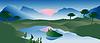 Vector clipart: Landscape