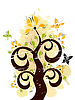 垃圾花卉装饰 | 向量插图