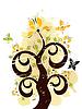 ID 3291317 | Grunge floral ornament | Stock Vector Graphics | CLIPARTO