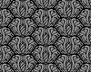 black and gray decorative seamless floral pattern