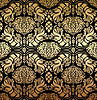 Ornamental royal black gold pattern