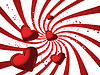 Vector clipart: Red valentines card