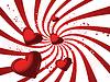 Векторный клипарт: Красная карточка валентинки
