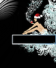 Vector clipart: Santa-woman