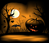 Vector clipart: Halloween background