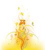 Векторный клипарт: Осень цветочный дизайн