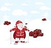 Векторный клипарт: Санта-