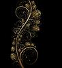 Векторный клипарт: Пасха золотая волна