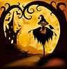 Vector clipart: Halloween background